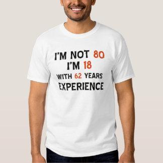 design do aniversário do 80 camisetas