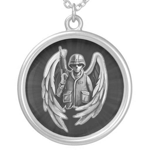 Design do anjo do soldado pingente