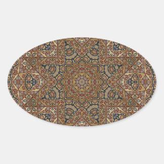 design do arabesque adesivo oval