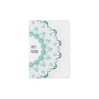 Design do art deco de turquesa capa para passaporte