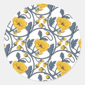 Design do azulejo das flores das papoilas da adesivo