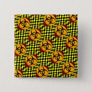 Design do Biohazard Bóton Quadrado 5.08cm