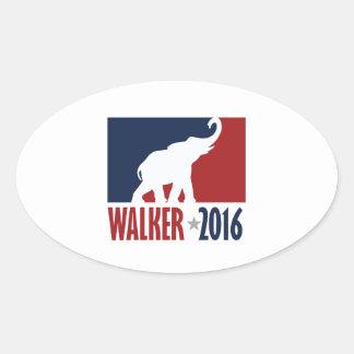 Design do candidato do GOP do caminhante 2016 pro Adesivos Em Formato Oval