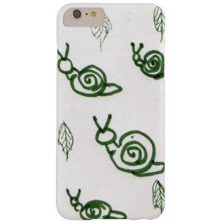 Design do caracol & da folha de Absract Capas iPhone 6 Plus Barely There