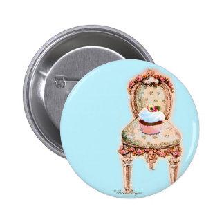 Design do cupcake do tea party pins