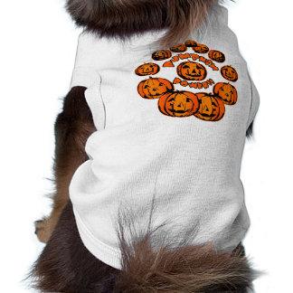 Design do Dia das Bruxas do poder da abóbora Camisa Sem Mangas Para Cachorro