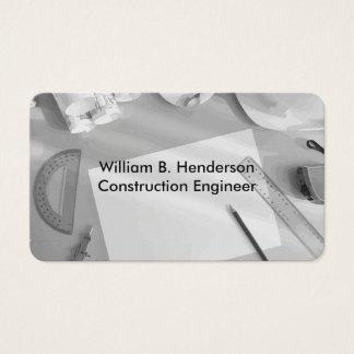 Design do engenheiro de construção cartão de visitas