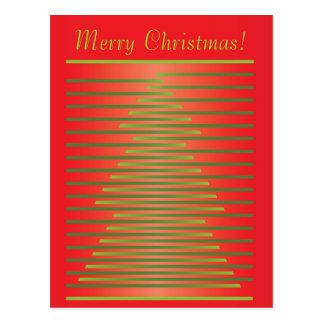 Design do Feliz Natal Cartão Postal