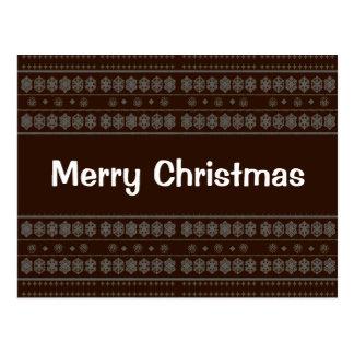 Design do floco de neve de Brown Cartão Postal