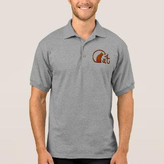 Design do gato dos desenhos animados do t-shirt polo