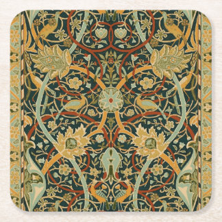 Design do impressão da arte do tapete persa de porta-copo de papel quadrado