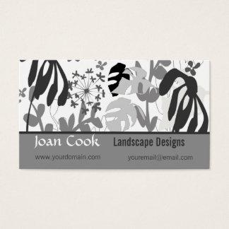 Design do jardim da paisagem cartão de visitas