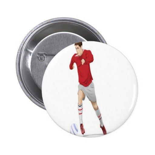 Design do jogador de futebol boton
