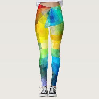 Design do lenço de papel do arco-íris leggings