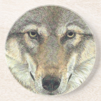 Design do lobo porta copos de arenito