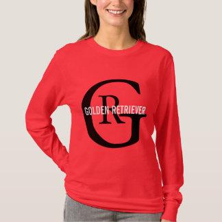 Design do monograma da raça do golden retriever t-shirt