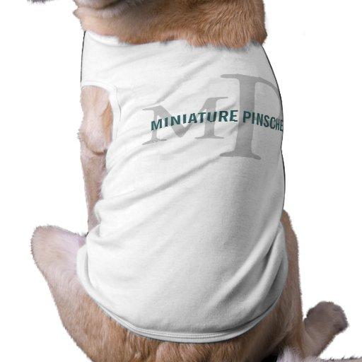 Design do monograma da raça do Pinscher diminuto Roupa Pet