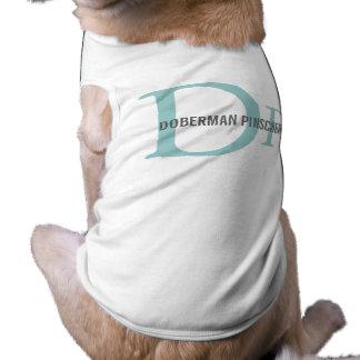 Design do monograma da raça do Pinscher do Doberma Roupa Para Cães