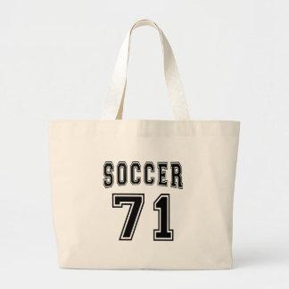 Design do número 71 do futebol bolsa para compras
