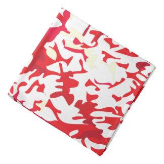 Design do Splatter do vermelho e do branco Faixas Para Cabeça