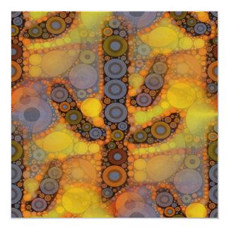 Design do sudoeste do mosaico do cacto do Saguaro Convite Quadrado 13.35 X 13.35cm