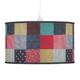 design do tecido dos retalhos do estilo do vintage abajur de teto