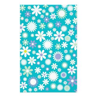 Design do teste padrão de flor do vintage papelaria