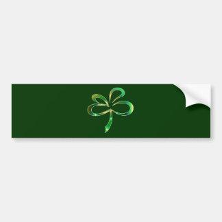 Design do trevo do dia do St. Patricks Adesivo Para Carro