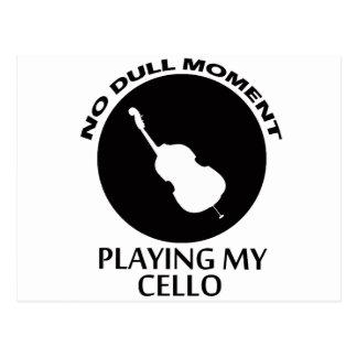 design do violoncelo cartão postal