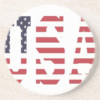 Design dos EUA Porta Copos De Arenito
