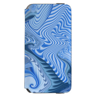 Design elegante do abstrato do azul capa carteira incipio watson™ para iPhone 6