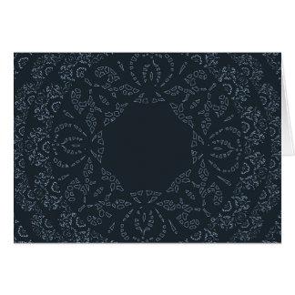 Design elegante e sofisticado do laço dos azuis cartão comemorativo