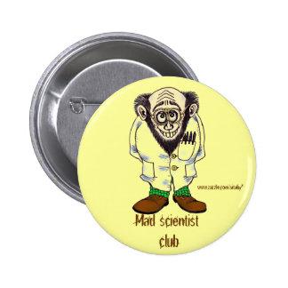 Design engraçado do botão do cientista louco bóton redondo 5.08cm