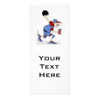 design engraçado do humor da boliche do jogador do 10.16 x 22.86cm panfleto