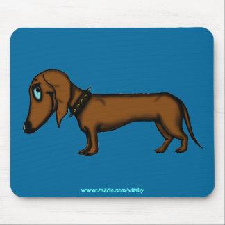 Design engraçado do mousepad do dachshund