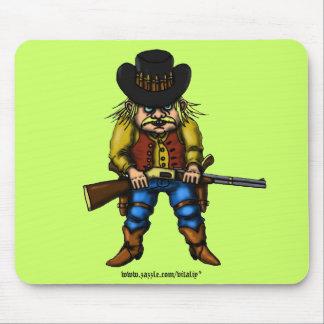 Design engraçado do mousepad do vaqueiro