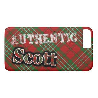 Design escocês do Tartan de Scott do clã autêntico Capa iPhone 7 Plus