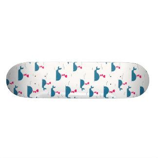 Design fabuloso da baleia azul com corações shape de skate 21,6cm