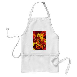 Design fantástico da arte abstracta do dragão e do avental