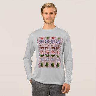 Design feio da camisola do Natal no t-shirt longo