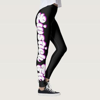 Design fêmea apto da malhação do batom leggings