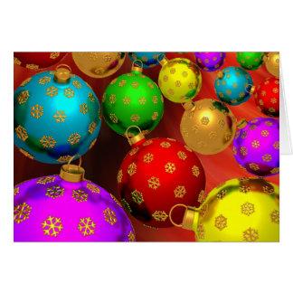 Design festivo dos ornamento da árvore de Natal do Cartão De Nota