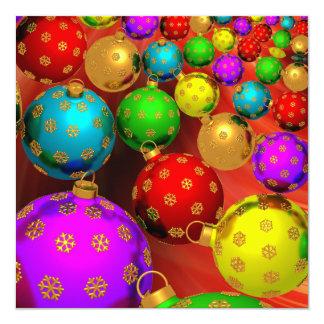 Design festivo dos ornamento da árvore de Natal do Convite Personalizados