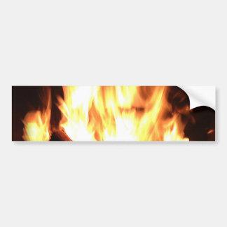 Design flamejante da lareira adesivo para carro