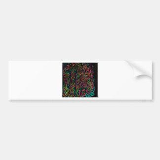 Design floral abstrato adesivo para carro