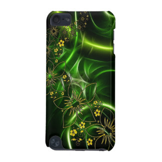 Design floral abstrato do preto e do verde limão capa para iPod touch 5G