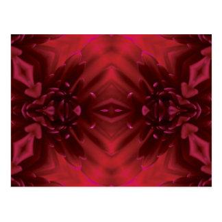 Design floral abstrato do vermelho cartao postal
