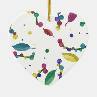 Design floral abstrato ornamento de cerâmica coração