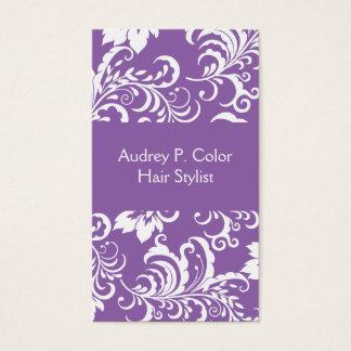 Design floral do cabeleireiro cartão de visita