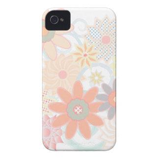 Design floral feminino do Pastel da aguarela Capa Para iPhone 4 Case-Mate